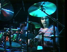 Brian on drums
